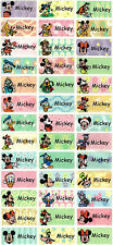 Personalized Waterproof Name labels stickers, 36 Mickey , day care, school,