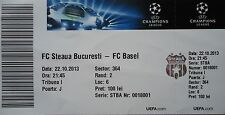 TICKET UEFA CL 2013/14 Steaua Bukarest - FC Basel