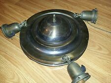 Vintage 1920's Ceiling light fixture Pan Light 3 Light Ceiling fixture