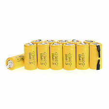 New Arrival 12pcs Ni-Cd 1.2V 2/3AA 600mAh rechargeable battery NiCd Batteries