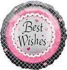 Hot Pink Black Bachelorette Engagement Wedding Shower Party Best Wishes Balloon