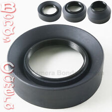 58mm 58 mm 3-Stage Rubber Screw Lens hood for Canon Nikon Sigma Sony camera lens