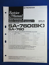PIONEER SA-760 INTEGRATED AMPLIFIER SERVICE MANUAL ORGINAL FACTORY ISSUE