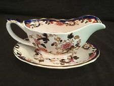 GRAVY BOAT AND UNDERPLATE MASON'S IRONSTONE CHINA MANDALAY