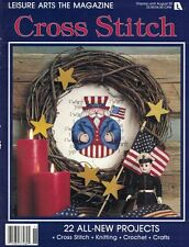 Leisure Arts the Magazine Aug 1992 Multi Crafts Roly Poly Uncle Sam Fruit Lace