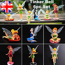 6pc Set Tinker Bell Cake Toppers Faires Princess Figures Kids Girl Toy Dolls