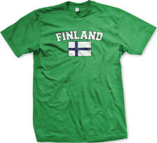 Finland Country Flag Finnish Pride Suomi Football Soccer Mens T-shirt
