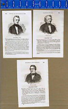 US Presidents James POLK, Zachary TAYLOR & Millard FILLMORE - 1875 Woodcuts