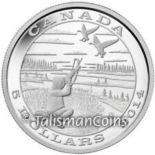 Canada 2014 Native American Tradition Hunting 4 Goose Bow Arrow $5 Silver Proof