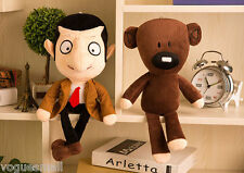 "New Funny 11"" Mr Bean + Teddy Bear Cub Doll soft Plush Figure Super Cute Toys"