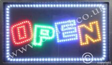 QUALITY FLASHING OPEN led new window shop signs
