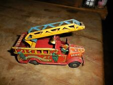 Vintage Marx Fire Truck Tin Toy No. 1 5 1/2""