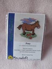 MOUSELOFT STITCHLETS CROSS STITCH KIT ~  PONY ~ NEW