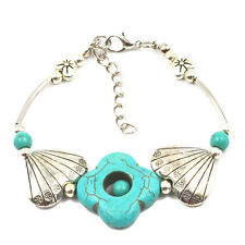 1 PCS Vogue Charming Elegant Jewelry Silver Pld Flower Beads Turquoise Bracelet