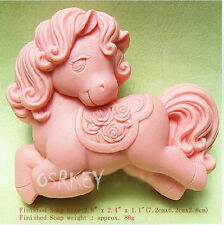 Lovely Horse S188 Silicone Soap mold Craft Molds DIY Handmade soap mould