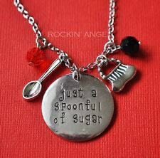 Mary Poppins, Just a Spoonful of Sugar Necklace Ladies Mums Carers Nanny's Gift