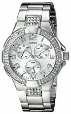 New Authentic GUESS  silver Tone  prism Stainless-Steel-Bracelet-38mm G12557L