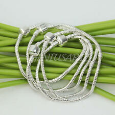 5x Sterling Silver Plated Snake Chain Bracelet Bangle Jewelry Making Thick 3mm