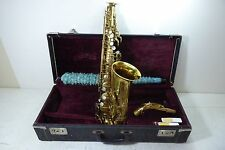 SELMER PARIS 1947 SBA VINTAGE ALTO SAXOPHONE PERFECT CONDITION NEW PADS LQQK !