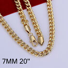 """Summer Style Jewelry 18K Gold GP 7MM 20"""" Gold Tone Cool Men Chain Necklace N238"""