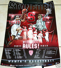 2011-2012 STANFORD WOMENS BASKETBALL poster schedule CHINEY & NNEKA OGWUMIKE