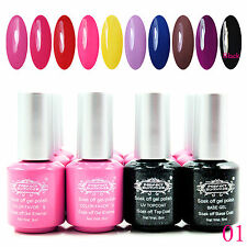 8ML Perfect Summer 10 Colors Vernis à ongles W/ UV GEL Top Base Nail Starter Kit