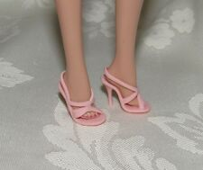 BARBIE MODEL MUSE PALE PINK HIGH HEEL SHOES STRAPPY SANDAL ACCESSORY FOR DOLL