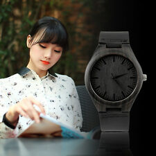 Vintage Ebony wooden watch wood dial quartz watches Men Women Couple Watch KE