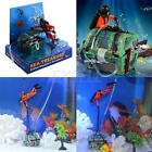 New Treasure Chest Shaped Aquarium Action Air Ornament for Fish Tank Aquascaping
