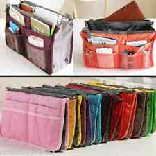 Travel Purse Gadget MakeUp Cosmetic Toiletry Kit Bag Organizer (B Pink)