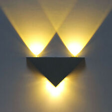 3W Modern 3 LED Up Down Wall Lamp Light Pathway Sconce Lighting Warm White
