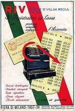 PUBBLICITA' REGISTRATORE DI CASSA RIV TORINO SCONTRINO PERUGINA TRICOLORE 1937