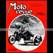 MOTO REVUE N°1684 AJS MATCHLESS ★ COURSE CÔTE LAPIZE ★ SIDE-CAR BERTRAND 1964