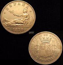 *GUTSE*121-I REPUBLICA, 2 PESETAS 1870*18-74, MADRID DE M, MBC+