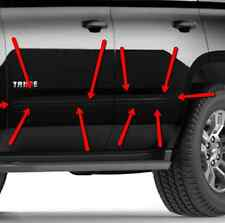 GM# 22998774 4 Piece Black Door Moldings Fits 2015-2017 Surburban & Yukon XL OEM