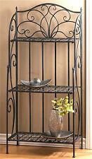 "49 3/8"" Tall EXQUISITE **  DEVINE WROUGHT IRON BAKER'S RACK SHELF UNIT ** NIB"