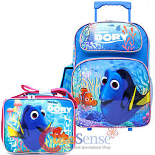 Finding Dory Large School Roller Backpack with Lunch Bag 2pc Set