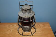 DIETZ NO.39 STEEL CLAD LANTERN, CITY OF NEW YORK WITH RED GLASS
