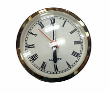 "NEW 2-5/8"" White Roman Quartz Fit-up Insert Clock Movement (C-576)"