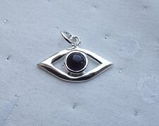 EVIL EYE AMETHYST PENDANT TALISMAN PROTECTION 925 STERLING SILVER
