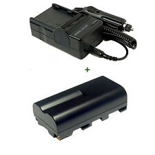 Battery+Charger for Sony NP-F330 Handycam CCD-TR425E Video 8 NP-F550 Camcorder