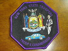 NEW YORK STATE POLICE TROOP  E CANANDAIGUA   HEADQUARTERS  STATE TROOPER PATCH