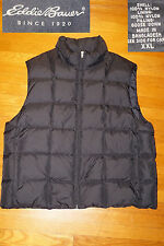 Eddie Bauer Men Classic Goose Down puffer vest jacket zip winter SKI HUNT EC XXL