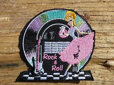 ECUSSON PATCH THERMOCOLLANT aufnaher toppa ROCK N ROLL rockabilly vintage rétro