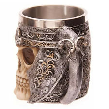 Creative Skull Design Stainless Steel 400ml Coffee Tea Beer Mug Cup