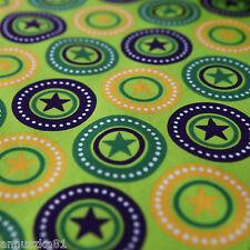 Jersey Stoff Sterne New Stars Lime Lila Grün Gelb Jerseystoffe Sternen Kinder