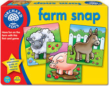 Orchard Toys FARM SNAP Baby/Toddler/Child Card Game Animals Education BN