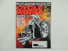 2002 CYCLE WORLD Motorcycle Magazine Yamaha 1100 Triumph Harley V-Rod L3210