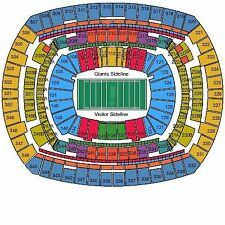 2 New York Giants vs Cincinnati Bengals Tickets with Parking 11/14/16 Great View