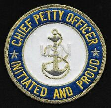 United States Navy CHIEF PETTY OFFICER CPO Initiated & Proud Military Patch